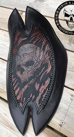 Custom made chopper seat