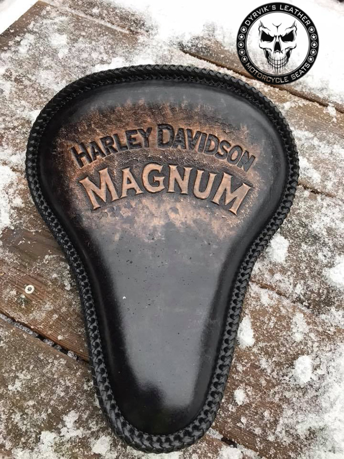 Harley Magnum leather seat