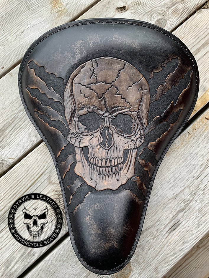 skull seat leather